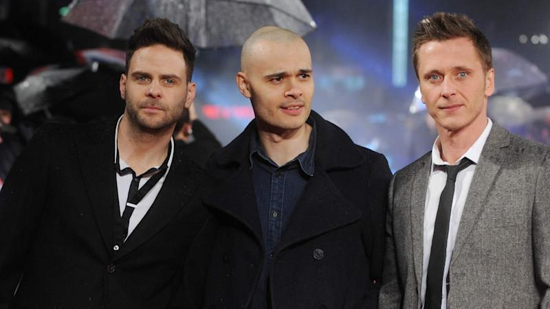 Pop group 5ive now consists of Scott Robinson, Ritchie Neville and Sean Conlon. (Photo: Sky News)
