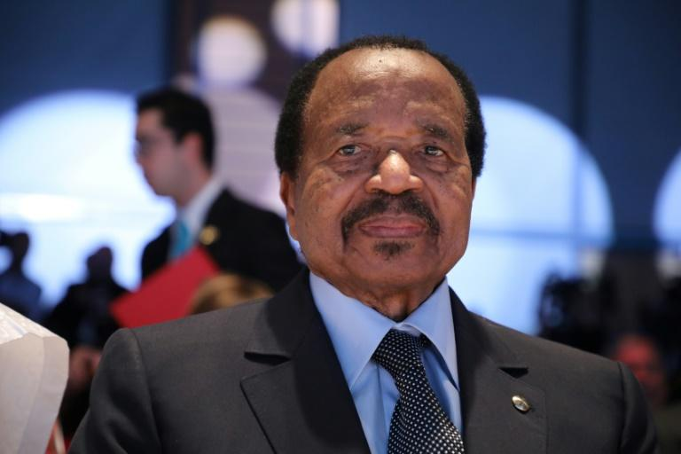 Biya has steered Cameroon for nearly four decades (AFP Photo/Ludovic MARIN)