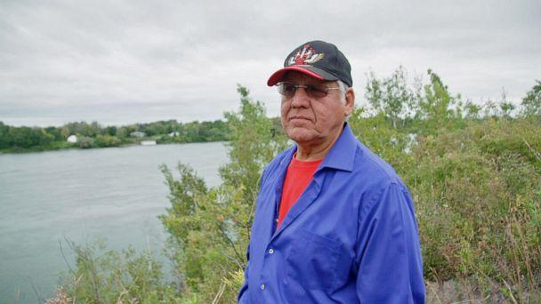 PHOTO: Kanasaraken, whose English name is Loran Thompson, is a member of the St. Regis Mohawk Nation. He was part of the first delegation to the United Nations advocating for Native sovereignty. (ABC News)