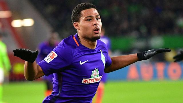 <p><strong>Age: </strong>21</p> <p><strong>Bundesliga Goals:</strong> 10</p> <br><p>Following a failed loan spell at West Brom last season, it took German winger Serge Gnabry to turn his back on England and return home to rediscover his form.</p> <br><p>He's been on fire since joining Werder Bremen last summer and has scored his 10 Bundesliga goals from roles all over the pitch. He's excelled in a central forward role.</p>