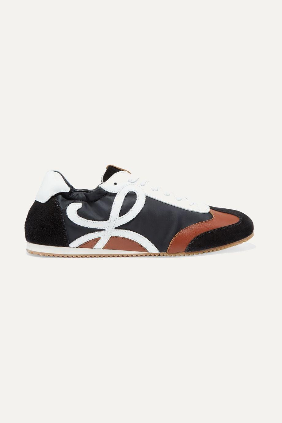 <p>I mean . . . just look at these <span>Loewe Black Leather, Suede, and Shell Sneakers</span> ($590). </p>