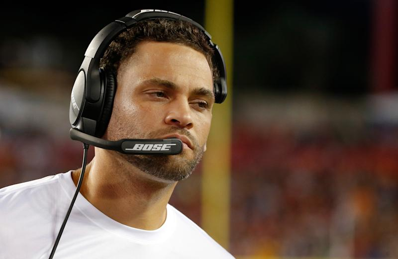 Former Tampa Bay Buccaneers offensive assistant Skyler Fulton was accused of domestic violence.