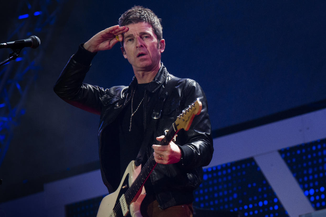 ROME - ITALY . MAY 01 :Noel Gallagher's High Flying Birds performs on stage on May 1, 2019 in Rome, Italy. (Photo by Roberto Panucci/Corbis via Getty Images)