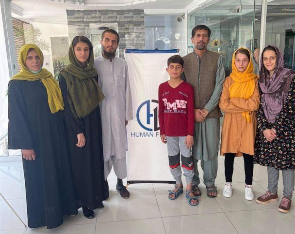 PHOTO: Afghan interpreter Mohammad Khalili, third from right, is pictured during his trip to the United States in a photo released by Human First. (Safi Rauf/Human First)