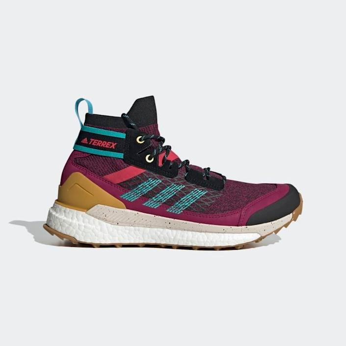 "<br> <br> <strong>Adidas</strong> Terrex Free Hiker Blue Hiking Shoes, $, available at <a href=""https://go.skimresources.com/?id=30283X879131&url=https%3A%2F%2Fwww.adidas.com%2Fus%2Fterrex-free-hiker-blue-hiking-shoes%2FFV6897.html"" rel=""nofollow noopener"" target=""_blank"" data-ylk=""slk:Adidas"" class=""link rapid-noclick-resp"">Adidas</a>"