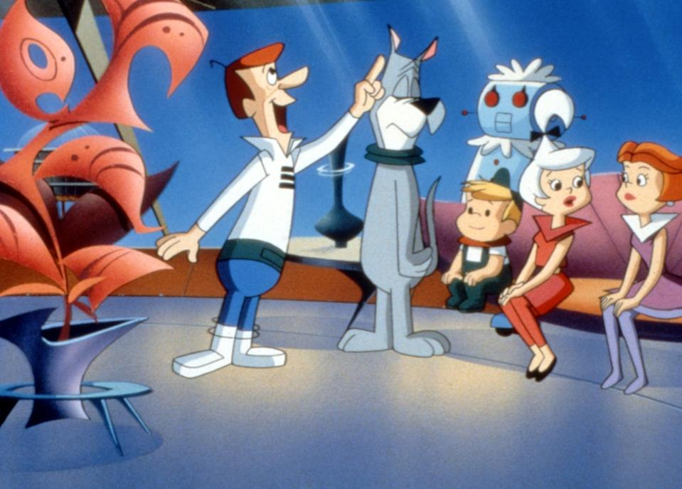 """<p><strong>HBO Max's Description:</strong> """"George Jetson and his futuristic family--wife Jane, daughter Judy, son Elroy--are back with everyone's favorite space mutt Astro. In this feature-length animated adventure, George uses diplomacy in his effort to solve an interplanetary crisis involving teddy-bear-like alien saboteurs and his hot-headed boss, Mr. Spacely.""""</p> <p><a href=""""https://play.hbomax.com/feature/urn:hbo:feature:GXajB2AYghcMcQQEAAAwi"""" class=""""link rapid-noclick-resp"""" rel=""""nofollow noopener"""" target=""""_blank"""" data-ylk=""""slk:Watch Jetsons The Movie on HBO Max here!"""">Watch <strong>Jetsons The Movie</strong> on HBO Max here!</a></p>"""