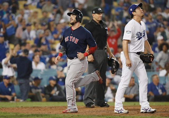 The Boston Red Sox scored nine unanswered runs and are now one game away from another World Series title. (Getty Images)