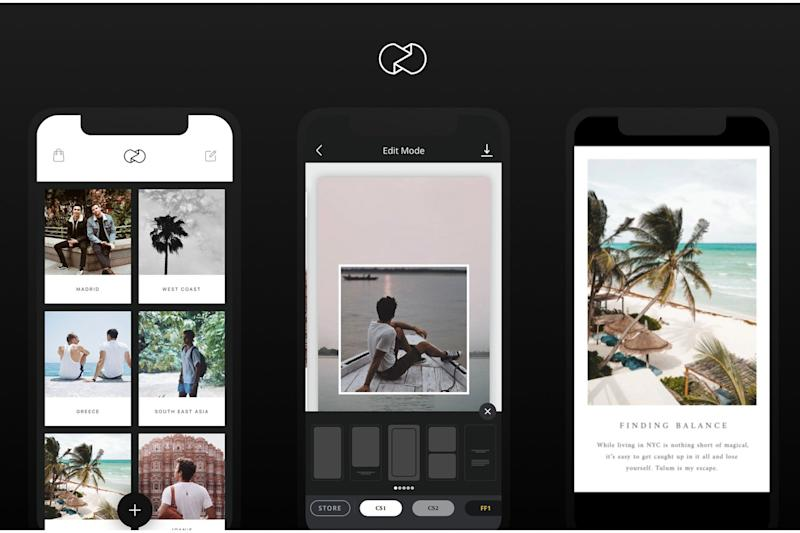 Unfold has easy-to-use templates to make your images pop on Stories (Unfold)