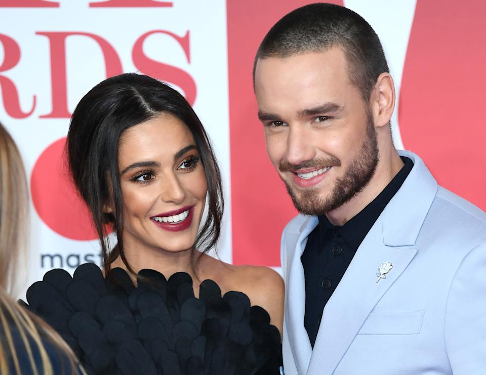 Cheryl and Liam Payne attending the Brit Awards at the O2 Arena, London. Photo credit should read: Doug Peters/EMPICS Entertainment EDITORIAL USE ONLY