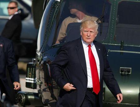 U.S. President Donald Trump is seen at the Naval Air Station Sigonella following the G7 Summit in Sigonella Sicily