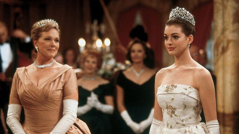 "up! Julie Andrews is totally on board to film ""Princess Diaries 3"""