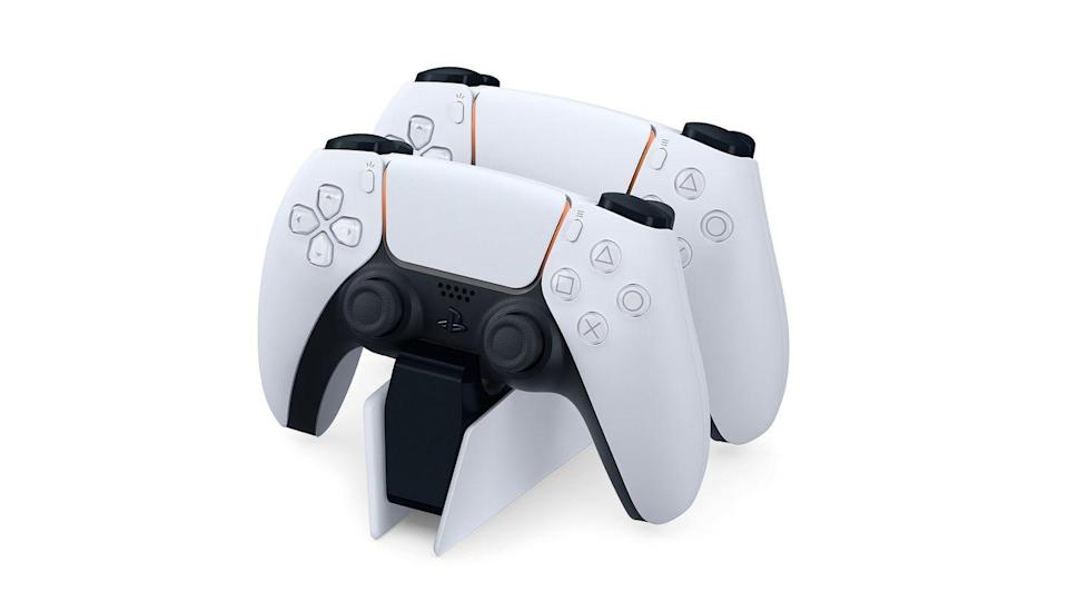 "<p>The PlayStation 5 is here, and with it Sony introduced the newest iteration of its DualShock lineage, now being called DualSense. The base model is white and black, with many of the same functions of a PlayStation 4 controller, but a brand new look to go with it all. </p><p>There's a directional pad, two rubberized analog sticks, a large central touchpad with lighting surrounding it that's meant to change with the games that you play, and two buttons flanking it. Those are the ""Create"" and ""Options"" selections. </p><p>There will continue to be L1, L2, R1, and R2 triggers on the top of the controller, with the same triangle, circle, cross, and square face buttons as well as a speaker and microphone on the front. But one of its most interesting additions is its new haptic feedback, which is said to completely change up how we interact with rumbling controllers. </p>"
