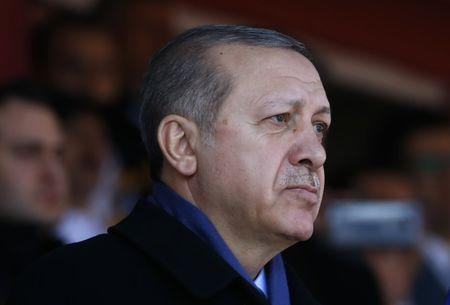 Turkish President Erdogan attends a ceremony marking the 102nd anniversary of Battle of Canakkale, also known as the Gallipoli Campaign, in Canakkale