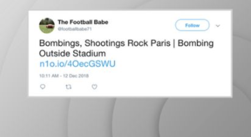 Fake Twitter account recycles old terror attacks as breaking news.