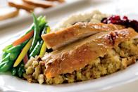 """<p>While supplies last, Buca di Beppo will offer Thanksgiving dinner for takeout and dine-in featuring sliced white meat turkey with <a href=""""https://www.thedailymeal.com/holidays/thanksgiving-side-dishes-ranking?referrer=yahoo&category=beauty_food&include_utm=1&utm_medium=referral&utm_source=yahoo&utm_campaign=feed"""" rel=""""nofollow noopener"""" target=""""_blank"""" data-ylk=""""slk:all the best side dishes"""" class=""""link rapid-noclick-resp"""">all the best side dishes</a> including <a href=""""https://www.thedailymeal.com/recipe/perfect-turkey-gravy?referrer=yahoo&category=beauty_food&include_utm=1&utm_medium=referral&utm_source=yahoo&utm_campaign=feed"""" rel=""""nofollow noopener"""" target=""""_blank"""" data-ylk=""""slk:homestyle gravy"""" class=""""link rapid-noclick-resp"""">homestyle gravy</a>, roasted garlic mashed potatoes, spicy Italian sausage stuffing, green beans, <a href=""""https://www.thedailymeal.com/recipe/homemade-cranberry-sauce?referrer=yahoo&category=beauty_food&include_utm=1&utm_medium=referral&utm_source=yahoo&utm_campaign=feed"""" rel=""""nofollow noopener"""" target=""""_blank"""" data-ylk=""""slk:cranberry sauce"""" class=""""link rapid-noclick-resp"""">cranberry sauce</a> and pumpkin pie. A small package that feeds three costs $68.99, a large package that feeds six is $138, a half-pan that feeds 10 is $219.99 and a full pan that feeds 20 is $399.99.</p>"""