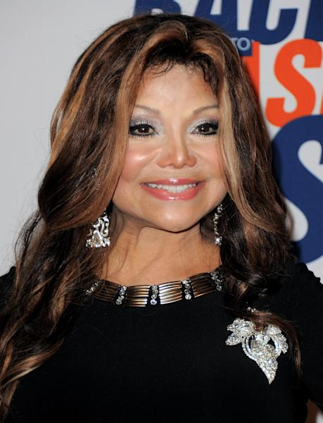"FILE - This May 18, 2012 file photo shows singer La Toya Jackson arriving at the 19th Annual Race to Erase MS Gala in Los Angeles, Calif. Jackson to star in her own reality show on her TV network, OWN. ""Life with La Toya"" is described as a ""candid look"" inside Jackson's life as she juggles family, friends and business. ""Life with La Toya"" is slated to air in 2013. (Photo by Jordan Strauss/Invision, file)"