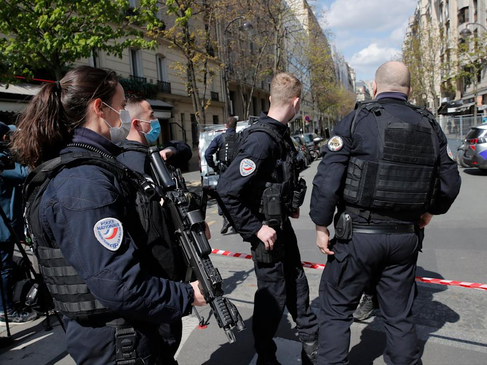 <p>One person has been left dead after the shooting in western Paris</p> (AP)