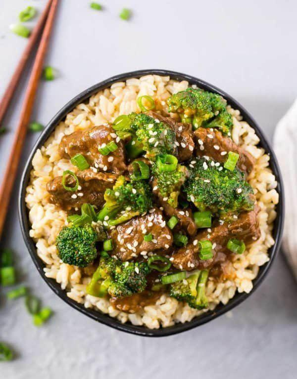 "<strong>Get the&nbsp;<a href=""https://www.wellplated.com/instant-pot-beef-and-broccoli/"" rel=""nofollow noopener"" target=""_blank"" data-ylk=""slk:Instant Pot Beef and Broccoli"" class=""link rapid-noclick-resp"">Instant Pot Beef and Broccoli</a> recipe from Well Plated.</strong>"