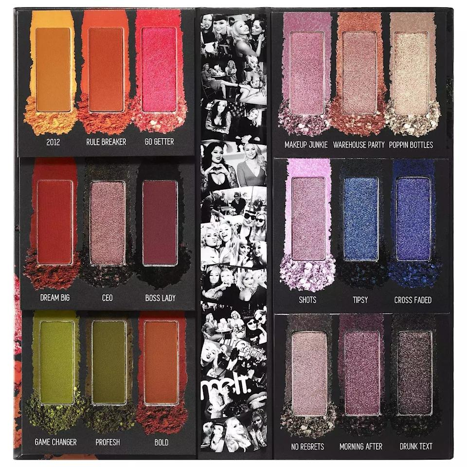 "<p>Libras are very social. They tend to be the life of the party and always seem to know everyone. But with so many parties to attend, how will their makeup looks keep up? This palette from Melt Cosmetics has 18 different shades so your Libra can try out a different look for each holiday event. </p> <p><strong>$65</strong> (<a href=""https://www.sephora.com/product/impulsive-eyeshadow-palette-P444553?icid2=products%20grid:p444553"" rel=""nofollow"" target=""_blank"">Shop Now</a>)</p>"