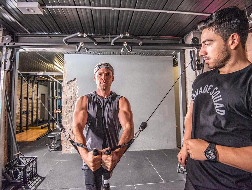 The Home and Away star credits his personal trainer, Jono Castano, for helping him get his health back on track. Photo: Instagram/linc_lewis.