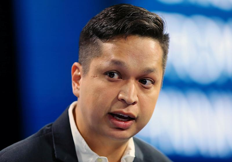 Ben Silbermann co-founder and CEO of Pinterest speaks at the WSJD Live conference in Laguna Beach, California, U.S., October 26, 2016. REUTERS/Mike Blake