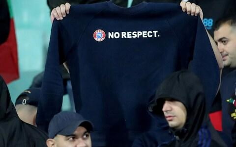 <span>A message to Uefa</span> <span>Credit: Action Images via Reuters </span>