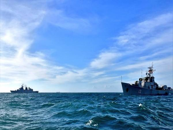 Indian Navy and Vietnam on Sunday began the two-day passage exercise in the South China Sea. (Photo credit: Twitter/SpokespersonNavy)
