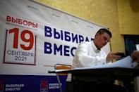 Russian authorities announced the vote would be held over three days in order to reduce risks from the coronavirus (AFP/NATALIA KOLESNIKOVA)