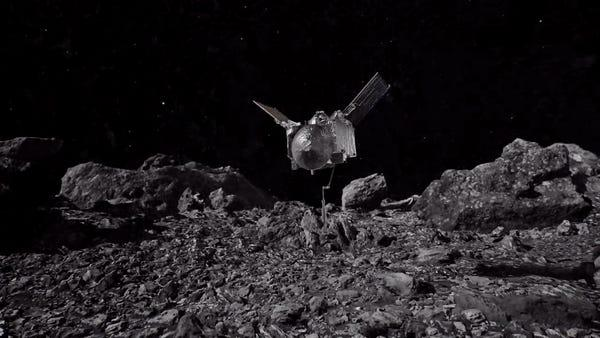 osiris rex asteroid bennu landing sample collection touch and go