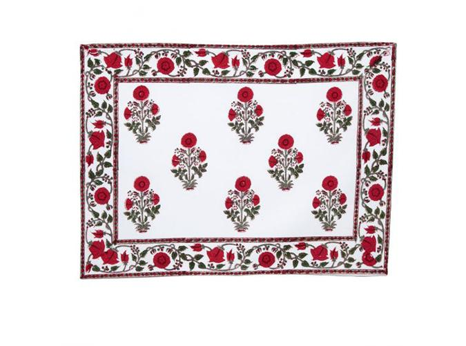 "<p>Gorg for holiday and summertime tabletops alike.</p> <p><a class=""cta-button-link"" href=""https://marigoldliving.com/amaya-placemat-red-set-of-2.html"" target=""_blank"">Buy It ($28 for two)</a></p>"