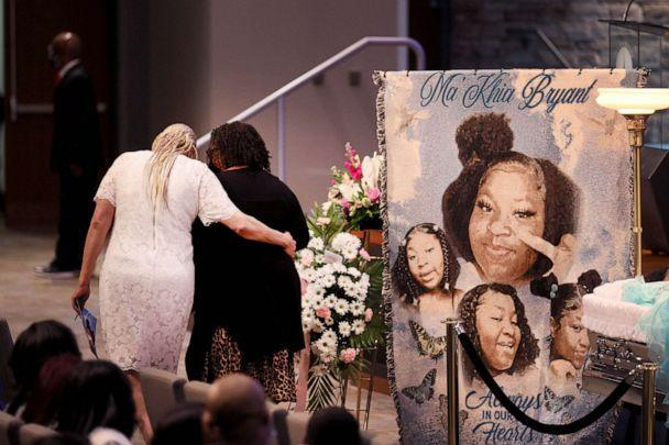 PHOTO: Family and friends attend a visitation and funeral service for 16-year-old Ma'Khia Bryant at the First Church of God on April 30, 2021 in Columbus, Ohio.  (Scott Olson/Getty Images)