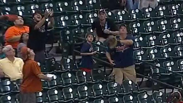 Dad drops ball, kid gets upset
