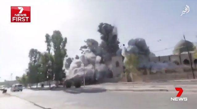 Followed by an explosion. Source: 7News