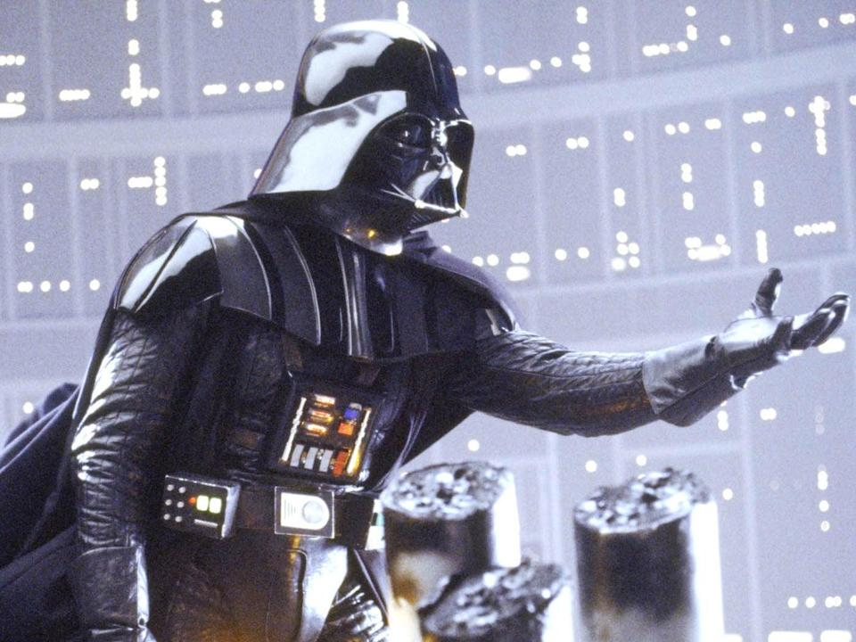 Darth Vader as seen during the climactic moment of Empire Strikes Back (©1980 Lucas Films)