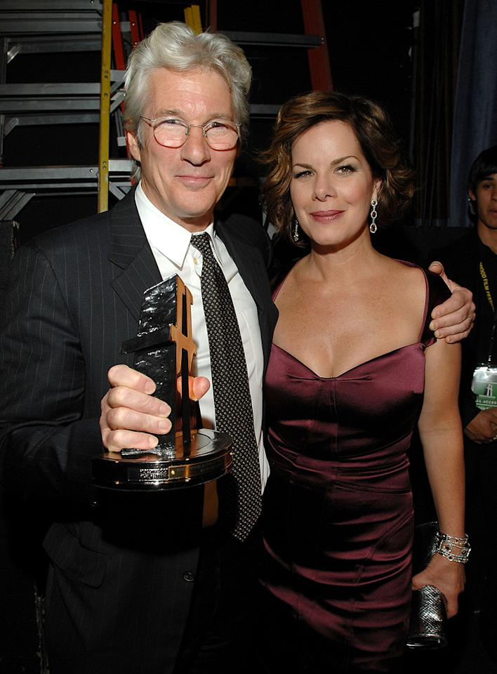 """<a href=""""http://movies.yahoo.com/movie/contributor/1800017075"""">Richard Gere</a> and <a href=""""http://movies.yahoo.com/movie/contributor/1800023339"""">Marcia Gay Harden</a> at the Hollywood Film Festival's Hollywood Awards in Beverly Hills - 10/22/2007"""