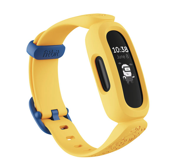 Fitbit Ace 3 Kids Activity Tracker - Minions Special Edition. Image via Best Buy.