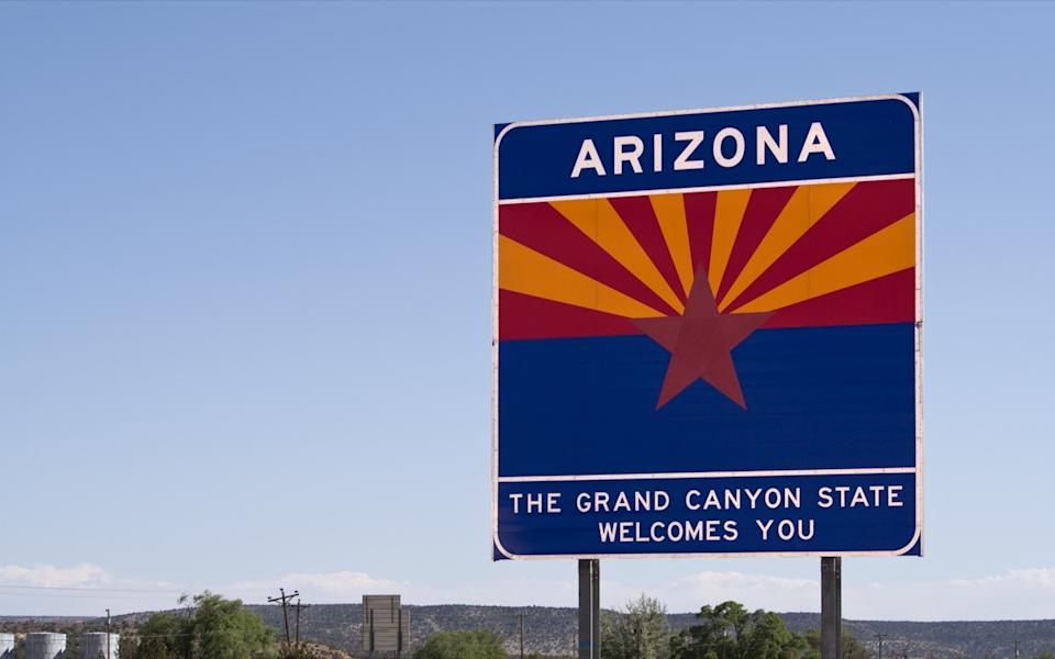 arizona state welcome sign