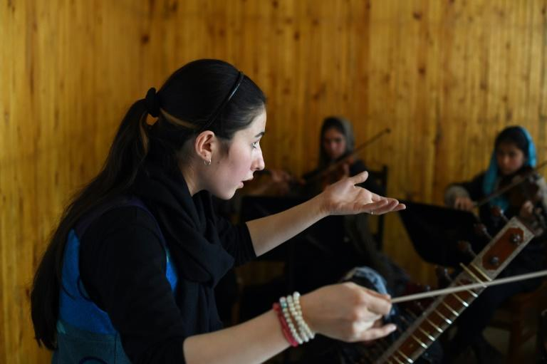 Nineteen-year-old Negina Khpalwak, the first female orchestra conductor in Afghanistan, said her uncle threatened to kill her for attending music lessons