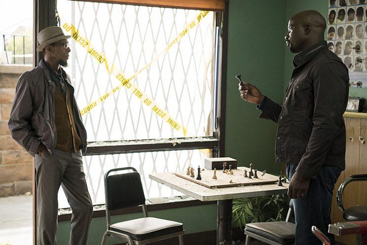 Ron Cephas Jones and Mike Colter in 'Marvel's Luke Cage' (Photo: Netflix)