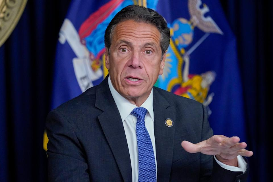 New York Gov. Andrew Cuomo speaks during a news conference, Wednesday, June 23, 2021, in New York.