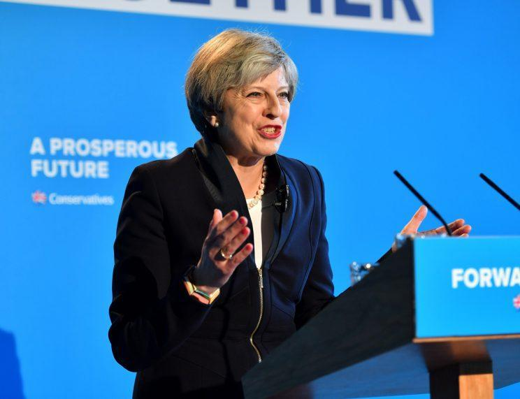 Theresa May 'dementia tax' saw the Conservatives' lead in the polls halved (Rex)