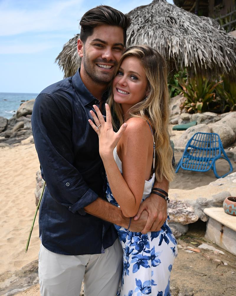 Dylan and Hannah after their engagement on Bachelor in Paradise