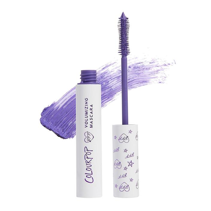 """""""When I want to add a little color to my look but am short on time, I always reach for <a href=""""https://www.allure.com/review/colourpop-bff-color-mascara-photos?verso=true&mbid=synd_yahoo_rss"""" rel=""""nofollow noopener"""" target=""""_blank"""" data-ylk=""""slk:Colourpop's BFF Mascara"""" class=""""link rapid-noclick-resp"""">Colourpop's BFF Mascara</a>. By applying just one or two coats (I start at the root of my lashes and wiggle the brush slightly from side to side as I swipe), you get a ton of color payoff. I find that my eyes are instantly brightened up, and I look more awake within seconds. It's basically an all-in-one eye look. My personal fave color is Blue Ya Mind, though the brand's classic black (called Black on Black) is a great staple."""" — <em>Rosemary Donahue, digital wellness editor</em>"""