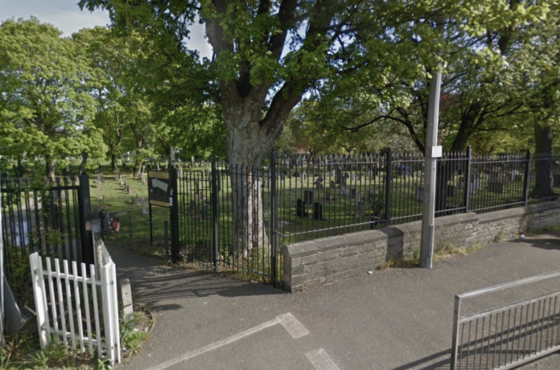 An inquest heard Jacqueline Parsons was in the cemetery for 17 hours. Source: Google Maps
