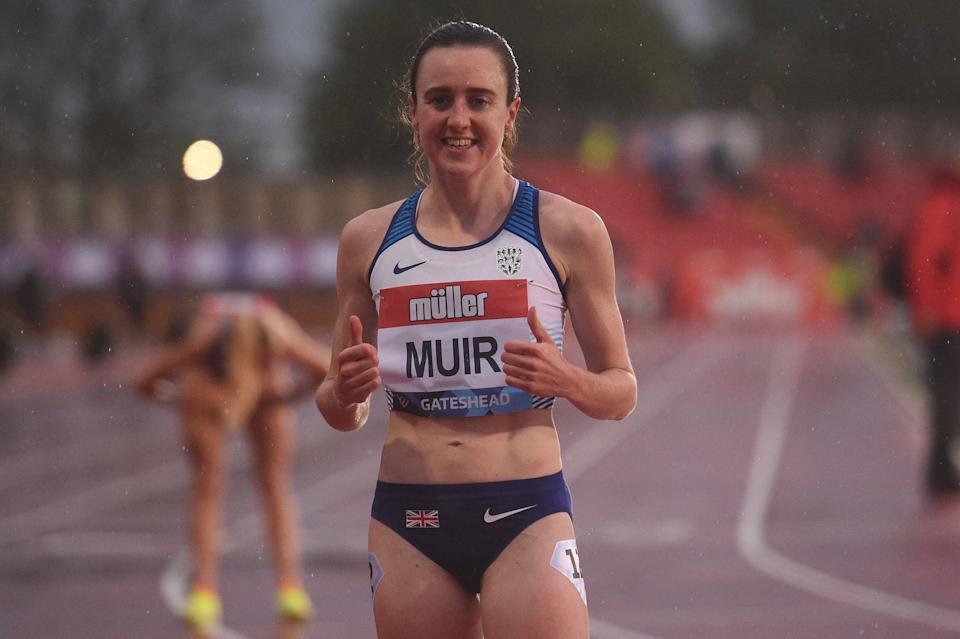 Muir at the Gateshead Diamond League meet in May (AFP via Getty Images)