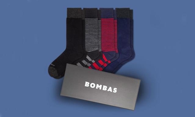 "<p>Father's Day Dress Socks Gift Box, $65, <a href=""https://bombas.com/products/mens-dress-sock-4-pair-gift-box?variant=mixed"" rel=""nofollow noopener"" target=""_blank"" data-ylk=""slk:bombas.com"" class=""link rapid-noclick-resp"">bombas.com</a> </p>"