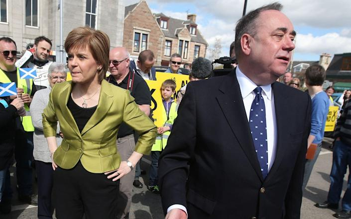 Alex Salmond and Nicola Sturgeom before their falling out - Andrew Milligan/PA
