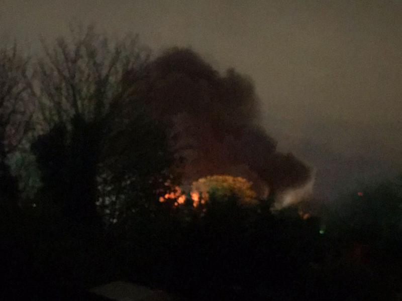 A major fire has broken out in Essex: Cheryl Flack/Twitter