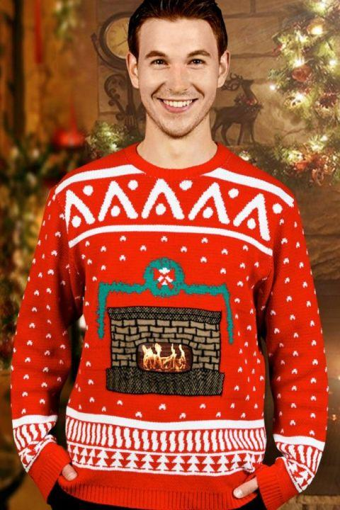 "<p><em>$45</em></p><p><a rel=""nofollow"" href=""https://www.amazon.com/Digital-Crackling-Fireplace-Christmas-Sweater/dp/B00FPOD96S?tag=syndication-20"">BUY NOW</a><br></p><p>This high-tech sweater has a pocket for your smartphone-just download the company's free app, choose the ""crackling fireplace"" option, and place it inside the sweater and it comes to life!</p>"