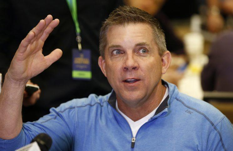 Coach Sean Payton and the Saints made two first-round picks on Thursday. (AP)
